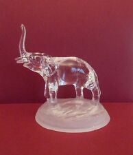 Cristal d'Arques 24% Lead Crystal Elephant on Frosted Base