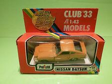 POLISTIL CLUB 33 CE64 NISSAN DATSUN 240Z - MUSTARD 1:43 - VERY GOOD IN BOX