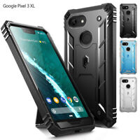 Google Pixel 3 XL Case,Poetic [w/Kick-stand] Armor Heavy Duty Shockproof Cover