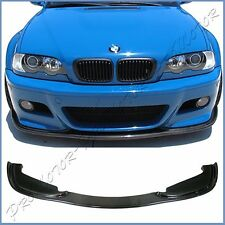 HM Look Carbon Fiber Lower Spoiler Lip For E46 BMW 2001-06 M3 Coupe Front Bumper