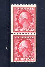 US Stamps - #411 - MNH - 2 cent Washington Coil Issue - Line Pair - CV $125