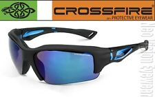 Crossfire Alpine Blue Mirror Matte Safety Glasses Sunglasses Shooting Z87+