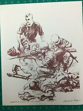 Father Capodanno, Usn Chaplain, Medal of Honor, with M/3/5 1967 Print Copy