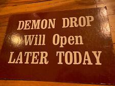 Cedar Point Amusement Theme Park Ticket Booth sign DEMON DROP RIDE - SUPER RARE