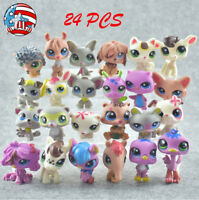 24pcs Littlest Pet Shop Lot Animal Hasbro LPS Figure Xmas Toys Gift Cats Dogs❤️