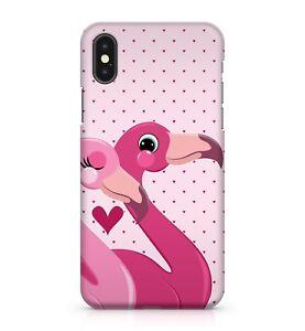 Mixed Pink Happy Flamingo Love Birds Polka Dot Love Hearts Phone Case Cover