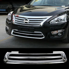 Fit For 2013-15 Nissan Altima Chrome Front Mesh Grille Bumper Cover Trim Molding