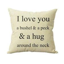 I Love You A Bushel And A Peck Sofa Bed Home Decor Pillow Case Cushion Cover