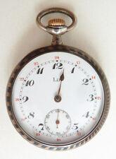Montre de gousset  argent massif niellé LIP vers 1900 silver pocket watch LIP
