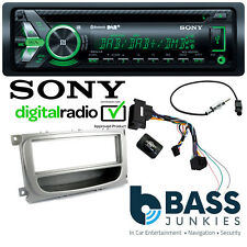 Ford Mondeo 2007 On Sony DAB CD MP3 USB AUX Bluetooth SWC Car Stereo Silver Kit