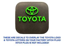 Lime Green Vinyl Decal Overlays For Factory OEM Toyota Hitch Plug New Free Ship