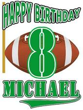 FOOTBALL Theme BIRTHDAY T-SHIRT Personalized Any Name/Age/Color Toddler to Adult