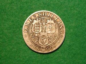 1899 Victoria Silver Shilling nice collectable grade (JU-291)