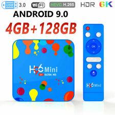H96 Mini Android 9.0 Smart TV Box 4Go/128Go Lecteur multimédia HDR 6K Quad- core