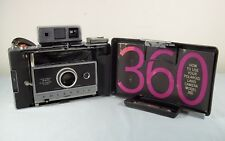 Vtg Polaroid 360 Land Camera w/ Cover - Zeiss Range & View Finder West Germany