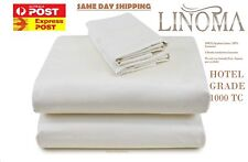 Best Quality!!King size 1000TC 100% Egyptian Cotton Sateen Sheet Set 4pc - IVORY