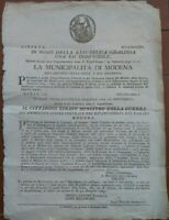 1797 MILANO REPUBBLICA CISALPINA: PREMI PER CHI ARRESTAVA I LEGIONARI DISERTORI