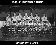 BOSTON BRUINS 1940-41 TEAM 8X10 PHOTO HOCKEY PICTURE NHL STANLEY CUP CHAMPS