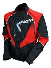 UFO Motocross Enduro Jacket Off Road Trail Adults Black Red M