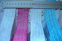 SOLID 3 Stitched Lines Ribbon 38mmWide 3 Metre Length 4 Bright Colour Choice CL1