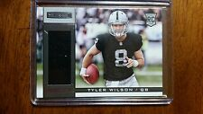 2013 Rookies and Stars Oakland Raiders Material Football Card #238 Tyler Wilson