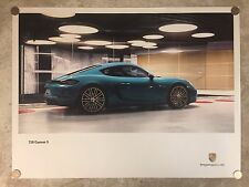 2016 Porsche 718 Cayman S Showroom Advertising Sales Poster RARE!! Awesome L@@K