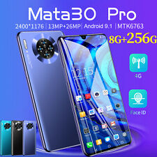 6.3 inch Mate30 Pro 8 + 256GB Android Smartphone Dual SIM Mobile Smart Phone