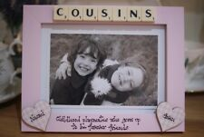 Personalised Photo Frame! Cousins Scrabble Tile Gift! 7x5''!