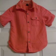 Toddler Boy's Baby Gap Short Sleeve Button Up Front Shirt Size 3 Years
