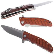 ENLAN EL-01 /  8Cr13MoV Steel / Wooden handle / Liner Lock