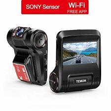 "Dash Cam, TEMON Car Camera : 2.45""LCD FHD 1080P WIFI Car Dashboard Camera"