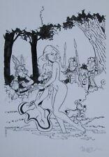 Ex libris N° & Signé par  Meynet / Hommage Asterix  Uderzo