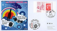 "VA207LT1 FDC KOUROU ""Fusée ARIANE 5 ECA - Vol 207 / ECHOSTAR XVII & MSG-3"" 2012"