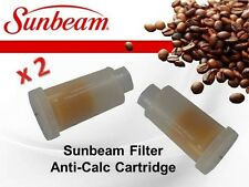 2 x GENUINE SUNBEAM FILTER ANTI-CALC EM6900 EM6910 EM7000 CARTRIDGE EM69101