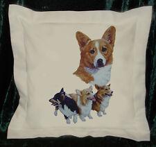 Hand crafted Pembroke Corgis cushion cover