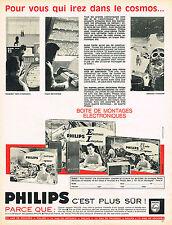 PUBLICITE ADVERTISING 064  1965  PHILIPS boites de montage éléctroniques