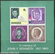 GHANA  IMPERFORATED SOUVENIR SHEET JOHN KENNEDY  SCOTT#229a  MINT NEVER HINGED