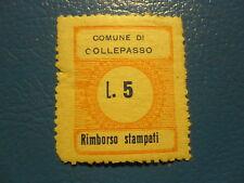 COLLEPASSO (LECCE) RIMBORSO STAMPATI MARCA DA LIRE 5 NUOVO INTEGRO -T-