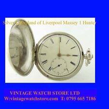 Regency Mint Silver Fusee Lever Liverpool Massey I Hunter Pocket Watch 1829