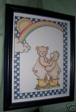 Cute Bears In Yellow Boots,  Picture For Child's Room