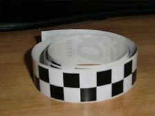 Negro + Blanco Checker Cinta - 4 Pies X 1en - 2 Plazas / Chequer Stripe