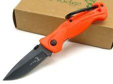 Couteau De Survie ELK RIDGE Orange Acier Carbone Manche ABS Kit Survie ERPK4