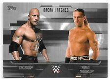 2017 Topps WWE Undisputed Dream Match Silver The Rock vs Shawn Michaels #24/50