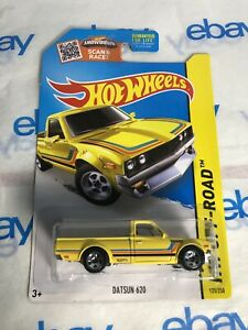 2015 Hot Wheels Kmart Exclus #125 HW Off-Road/Hot Trucks DATSUN 620 Yellow w/5Sp