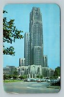 Pittsburgh PA, Cathedral Of Learning, University, Chrome Pennsylvania Postcard