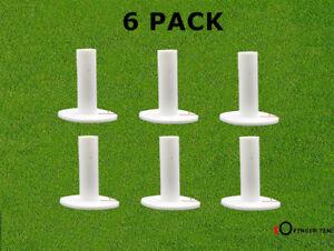 Rubber Golf Mat Tees 6 Pack Holder Driving Range & Practice Trainning Durable