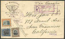 """Salvador 1914 """"Chinese"""" cover/1c, 2c 20c/Butterfly"""