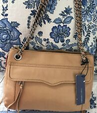 NWT REBECCA MINKOFF Tassel LEATHER CROSSBODY SHOULDER Bag Gold Chain Strap $300