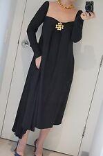 JIL SANDER Black Jersey Viscose Dress Long Sleeve size M  FR 38 US 6 AU 8-10