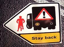 CYCLIST WARNING Sticker  215mm X 155mm  VAN / Truck Scania Volvo Renault DAF HGV